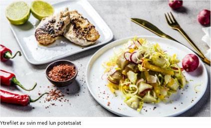 Godtlevert Roedekassen - ytrefilet av svin med lun potetsalat
